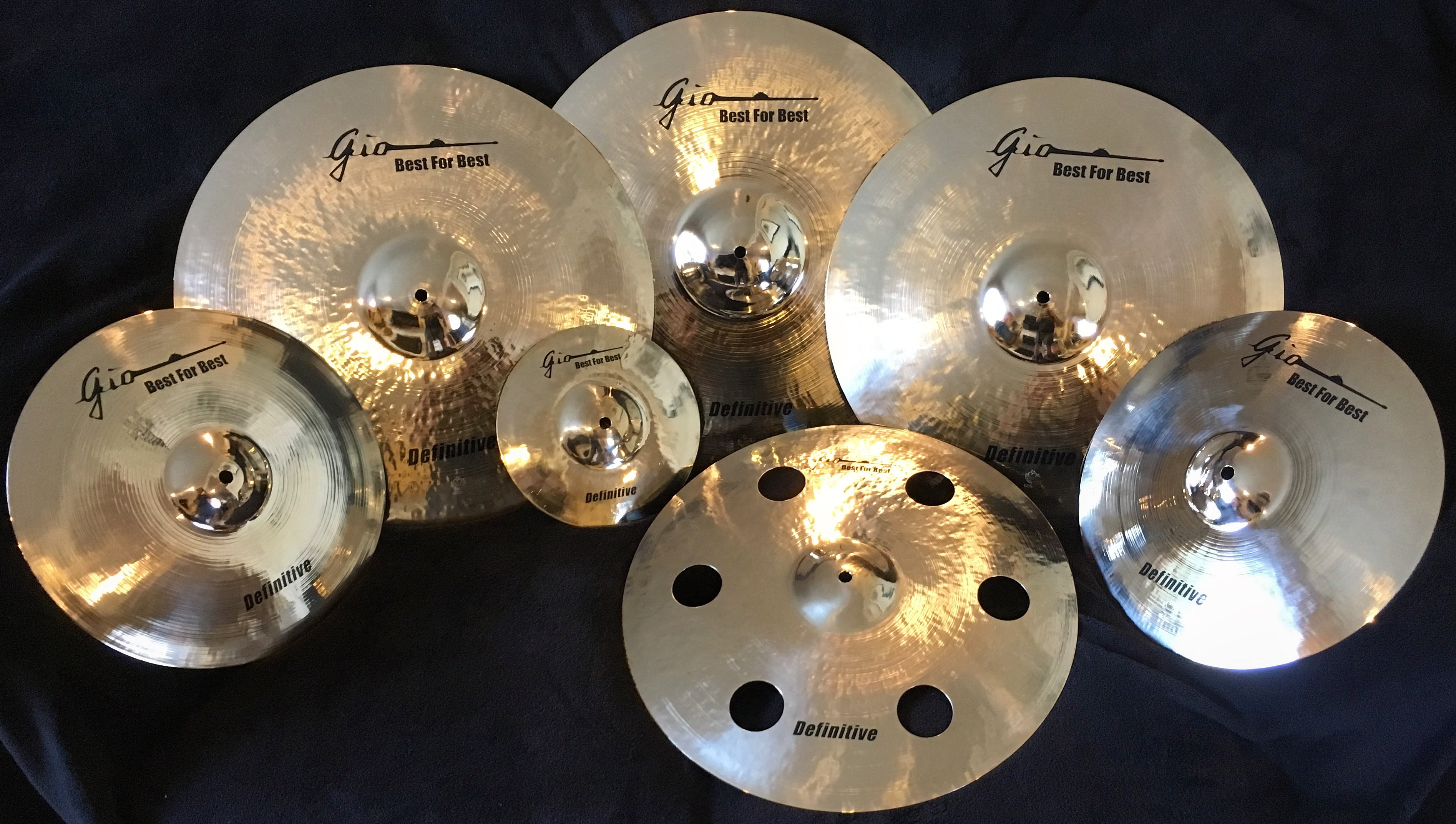 GIO Cymbals Matched Set